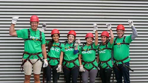 KPMG does charity abseil for NSPCC partnership